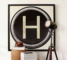 Type Key Framed Prints #potterybarn