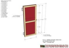 Automatic Chicken Coop Door - Chicken Coop Plans Construction   The video & picture below is the Concept Plans. Detailed Plans for cons...