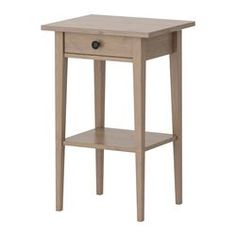 HEMNES Nightstand - gray-brown - IKEA perfect for bathroom. Small, but can store towels underneath.