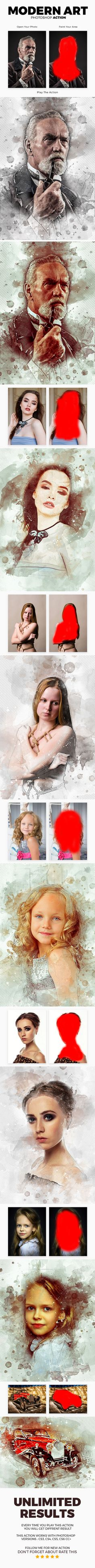 ModernArt Photoshop Action