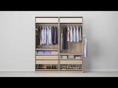 Storage idea for space between bed and bathroom PAX system - Combinations with doors - IKEA
