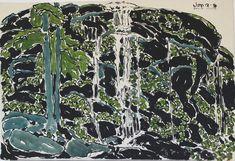 Falling Water c. 1921 David B. Canadian Painters, Canadian Artists, David Milne, Landscape Paintings, Art Paintings, Landscapes, Watercolor Techniques, Watercolor And Ink, American Art