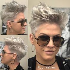 Trendiest Pixie Haircut for Women, 2018 Summer Short Hairstyle Ideas - New Hair Styles Edgy Pixie Hairstyles, Edgy Haircuts, Short Pixie Haircuts, Short Hairstyles For Women, Hairstyles Haircuts, Short Hair Cuts, Haircut Short, Trending Hairstyles, Rocker Hairstyles
