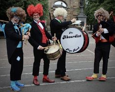 The Absurdist Pipe Band rocking some crazy with their gaitas! :)