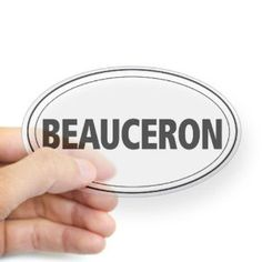 Beauceron Oval Sticker Sticker Oval by CafePress - Clear,$5.20