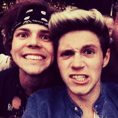 The Most Stylish Selfie of the Day   Twist 5 Seconds of Summer and One Direction united for one of the cutest selfies ever! Ashton Irwin' celebrated his 20th birthday with Niall Horan, and the two guys commemorated the occasion with a fun Instagram snap. Ashton rocked his signature bandana while Niall wore a stylish denim shirt over a white t-shirt.