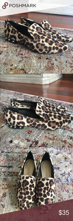 🛑sold to a friend🛑 THESE HAVE BEEN SOLD VIA INSTAGRAM. Follow me on there for special deals if you live in Philadelphia. @smashleyblair !! Super comfortable cheetah slides. Bought them and worn once because they are a bit big on me. I'd say even though they are a 6 could fit a 6.5 Marc Fisher Shoes Flats & Loafers