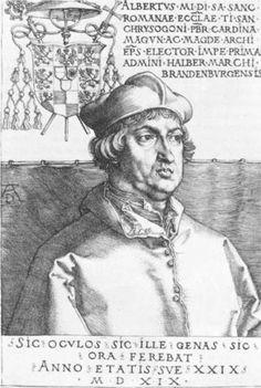Cardinal Albrecht of Brandenburg (The Small Cardina) - Albrecht Durer