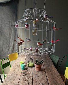 hanglamp met vogels | hanging lamp with birds by www.DutchDilight.com