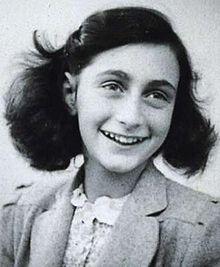 Anne Frank (Frankfurt am Main, 12 de Junho de 1929 — Bergen-Belsen, Março de 1945), foi uma adolescente alemã de origem judaica, vítima do Holocausto, que morreu aos quinze anos de idade em um campo de concentração. Ela se tornou mundialmente famosa com a publicação póstuma de seu Diário, no qual escrevia as experiências do período em que sua família se escondeu da perseguição aos judeus dos Países Baixos. O conjunto de relatos, que recebeu o nome de Diário de Anne Frank.