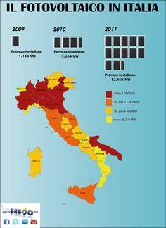 Il fotovoltaico in Italia. Nell'infografica tutti i dati sul fotovoltaico italiano nel 2011.