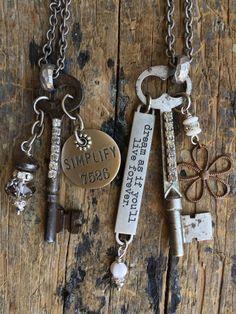 Vintage Key Necklaces Reserved for Sheystah19 by Lovevintagejewel