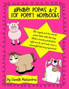 Krazee 4 Kindergarten: Poetry Journals/Notebooks to Teach a Wide Range of Skills