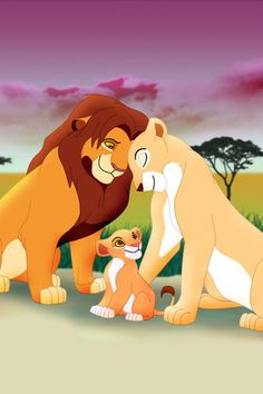 Simba & Nala with their daughter Kiara<3