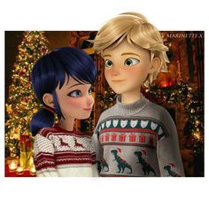 ⠀ ⠀ Adrienette lovey dovey post reveal Christmas ⠀ - Yes, I know Adrien looks cross eyed. I repositioned his eyes to make it look like he was looking at Marinette, but its hard to do okay – Please give credit if you repost! – • Programs used: Paint Tool SAI & Photoshop CS6 – #miraculousladybug #miraculous #ml #marinettecheng #marinette #adrienagreste #chatnoir #ladybug #edit #myedit #marichat #ladynoir #adrinette #ladrien #nickelodeon #zag