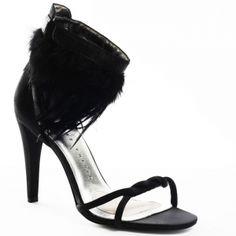 SALE - Womens Martinez Valero Carla Stiletto Heels Black Fabric - Was $174.99 - SAVE $20.00. BUY Now - ONLY $154.99.