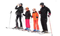 Queen Letizia and King Felipe of Spain hit the Spanish slopes with Princesses Leonor and Sofia.  February 5, 2017