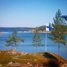 Mothers Day in Finland and the flags are up! #finland #sea #finnisharchipelago…