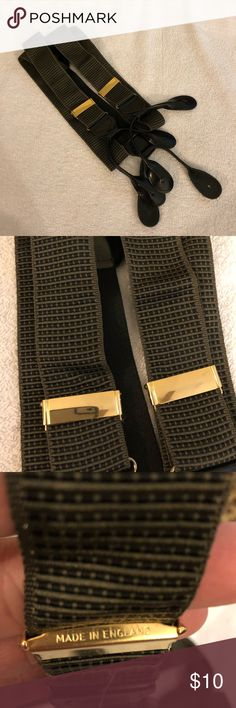 Olive & Black Check Suspenders Braces Olive Green and Black Check Suspenders Braces! Great condition! Please make reasonable offers and bundle! Ask questions! Accessories Suspenders