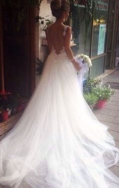 Picking a prom dress was difficult, I can only imagine my wedding dress Wedding Goals, Wedding Attire, Wedding Wishes, Dream Wedding Dresses, Tulle Wedding, Gown Wedding, Dream Dress, Perfect Wedding, Wedding Styles