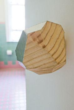 Make it Modern: DIY Metallic Faceted Wood Doorknob in home furnishings  Category