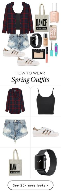 """""""Dancer Outfit"""" by xxxxanaxxxx on Polyvore featuring Topshop, Rails, ALPHABET BAGS, One Teaspoon, Essie, Casetify, adidas Originals and NARS Cosmetics"""