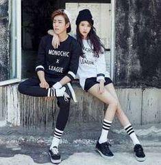 Iu & lee hyun woo - union bay friends in 2019 корейские актр Korean Fashion Men, Iu Fashion, Fashion Couple, Ulzzang Fashion, Asian Fashion, Fashion Outfits, Street Fashion, Fashion Kids, Moorim School