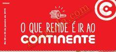 Antevisão Promoções Folheto Continente - de 20 a 26 de Janeiro - O que rende é ir ao continente