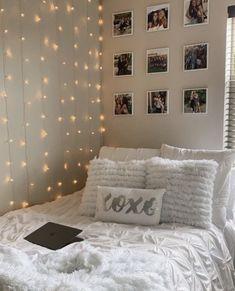 Cute Bedroom Decor, Bedroom Decor For Teen Girls, Room Design Bedroom, Teen Room Decor, Stylish Bedroom, Room Ideas Bedroom, Teen Girl Bedrooms, Cozy Teen Bedroom, White Room Decor
