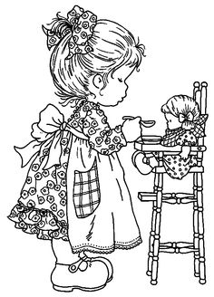 Sarah Kay coloring pages to use for embroidery patterns Coloring Book Pages, Printable Coloring Pages, Free Coloring, Coloring Pages For Kids, Kids Coloring, Online Coloring, Holly Hobbie, Digi Stamps, Colorful Pictures