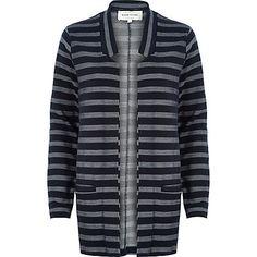Navy stripe inverse collar blazer €55.00