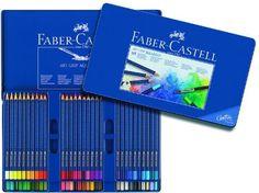 Faber-Castell ART GRIP Aquarelle Watercolor Pencils, tin of 60 114260 by Faber Castell, $55 http://www.amazon.com/dp/B000EX0HF6/ref=cm_sw_r_pi_dp_myeFrb1364W15