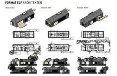 abgestimmte Entwürfe der drei Häuser