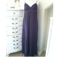 Midnite blue Vera wang long dress with pockets This dress feels so light when wearing, perfect summer dress with brown sandals. Vera Wang Dresses