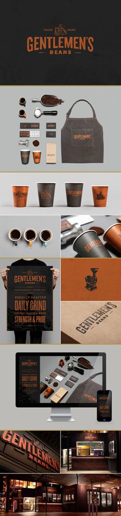 identity / gentlemen's beans coffee bar #spaincreative | #stationary #corporate #design #corporatedesign #identity #branding #marketing repinned by www.BlickeDeeler.de | Visit our website: www.blickedeeler.de/leistungen/corporate-design