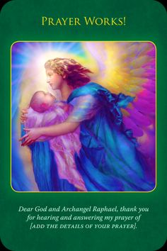 Angel Card Reading From The Archangel Raphael Oracle Cards: Prayer Archangel Raphael Prayer, Archangel Prayers, Raphael Angel, Angel Protector, I Believe In Angels, Angel Guidance, Angels Among Us, Angel Cards, Guardian Angels