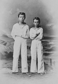 "aw-laurendet: "" A teenage Tsarevich Nikolai Alexandrovich Romanov of Russia with his brother Grand Duke Georgiy Alexandrovich Romanov of Russia in 1883. """