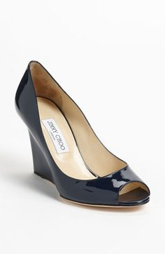 Jimmy Choo 'Baxen' Peep Toe Wedge available at #Nordstrom