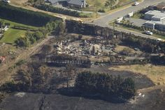 Destruction, as seen earlier today, caused by the fire. Destruction, City Photo, Fire