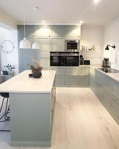Open Plan Kitchen Living Room, Kitchen Family Rooms, Cozy Kitchen, New Kitchen, Kitchen Decor, Grey Kitchen Designs, Interior Design Kitchen, Conservatory Kitchen, Inside A House