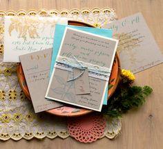 Wildflower Boho   Wedding Invitations Lace Baker by BeaconLane, $6.75
