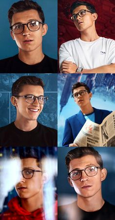 Tom Holland with glasses - Marvel Marvel Jokes, Marvel Funny, Marvel Comics, Tom Holand, Baby Toms, Tom Holland Peter Parker, Tommy Boy, Dc Memes, Marvel Actors