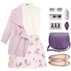 Spring Layer by sweetpastelady on Polyvore featuring moda, Jil Sander Navy, Vince, RED Valentino, Versace, N'Damus, Nine West, STELLA McCARTNEY, Clinique and Chanel