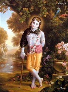 Lord Krishna Natural Painting For Happy Janmashtami ,Happy Janmashtami Festival Hd And Hq Wallpaper
