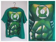 Green Lantern DC Comics Originals Green Cotton Mens T-Shirt Size Large #DCComics #GraphicTee