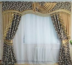 Window Curtain Designs, Curtain Styles, Swag Curtains, Window Curtains, Bedroom Furniture Design, Interior Decorating, Interior Design, New Home Designs, Window Treatments