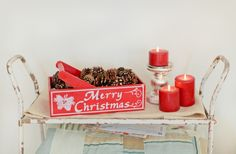Look for wooden boxes to paint for Christmas cheer!