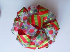 Christmas Tree Topper Bow Christmas Tree Bow by greentraderllc, $49.95