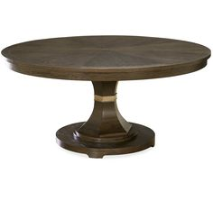 California Rustic Oak Expandable Round Dining Table 64"