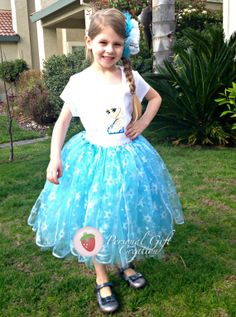 Frozen Princess Elsa outfit with snowflakes by PersonalGCreation, $70.00